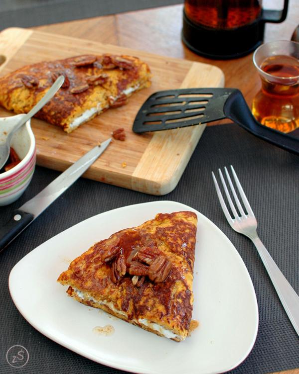 omlet z batatem i ricottą