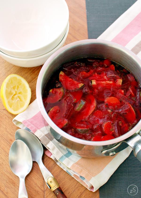 minestrone z pieczonymi warzywami