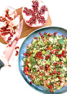 salatka z couscous bobem i granatem