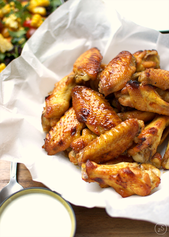 pikantne pieczone skrzydełka z kurczaka
