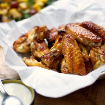 słodko pikantne pieczone skrzydełka z kurczaka