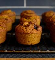 muffiny dyniowe bez cukru z imbirem, pomarańczą i żurawiną oraz… kaszą jaglaną