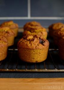 muffiny bezglutenowe, bez cukru, bez mąki