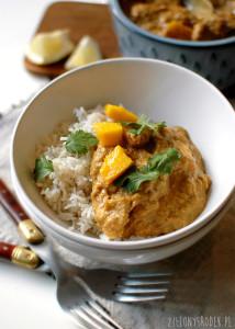 kurczak curry w kremowym sosie z mango