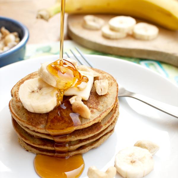 pancakes owsiane z bananem