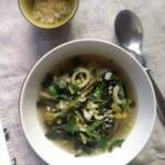 zielone minestrone- wiosenna zupa ze szparagami, szpinakiem i selerem