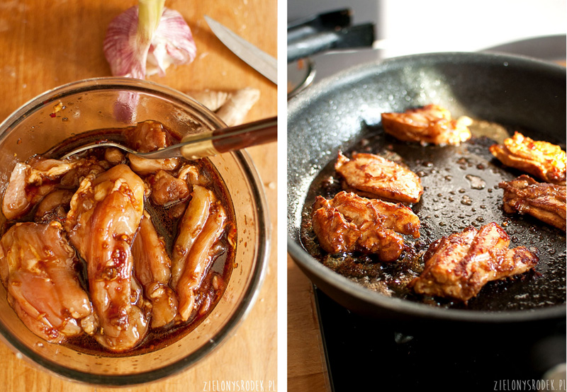 kurczak bulgogi, czyli po koreańsku z imbirem, sosem sojowym i olejem sezamowym
