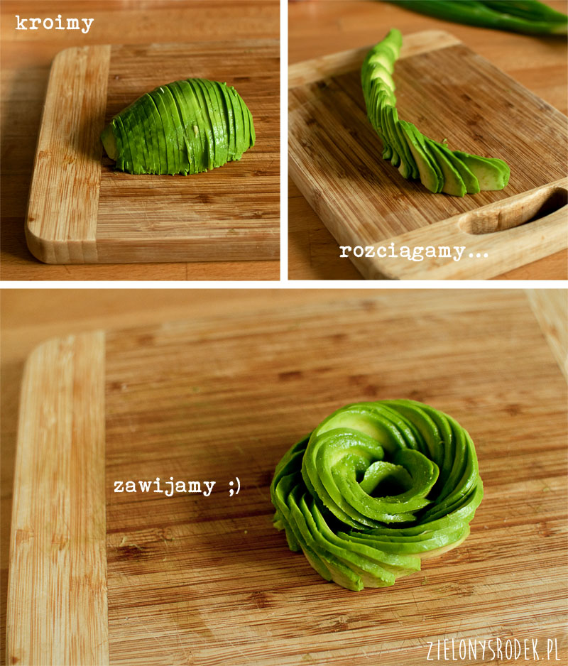 jak zrobić różę awokado