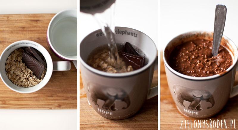 ekspresowa owsianka czekoladowa