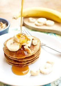 Pancakes owsiane z bananem. Pyszne z zdrowe!