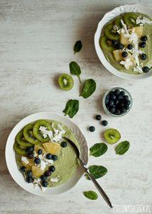 green smothie bowl przepis