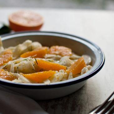 sałatka z kopru włoskiego (fenkułu) z pomarańczą- super na trawienie