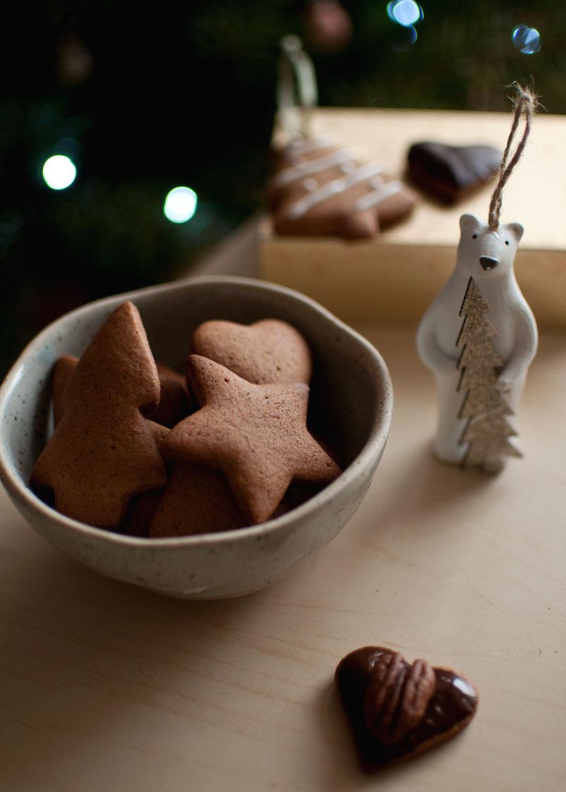 pierniczki orkiszowe, ciastka na święta, bez cukru, bez pszenicy, zdrowsze, pyszne